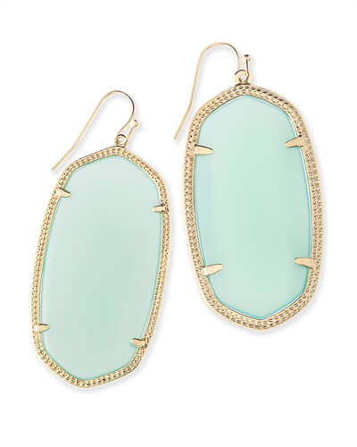 Danielle Statement Earrings in Chalcedony