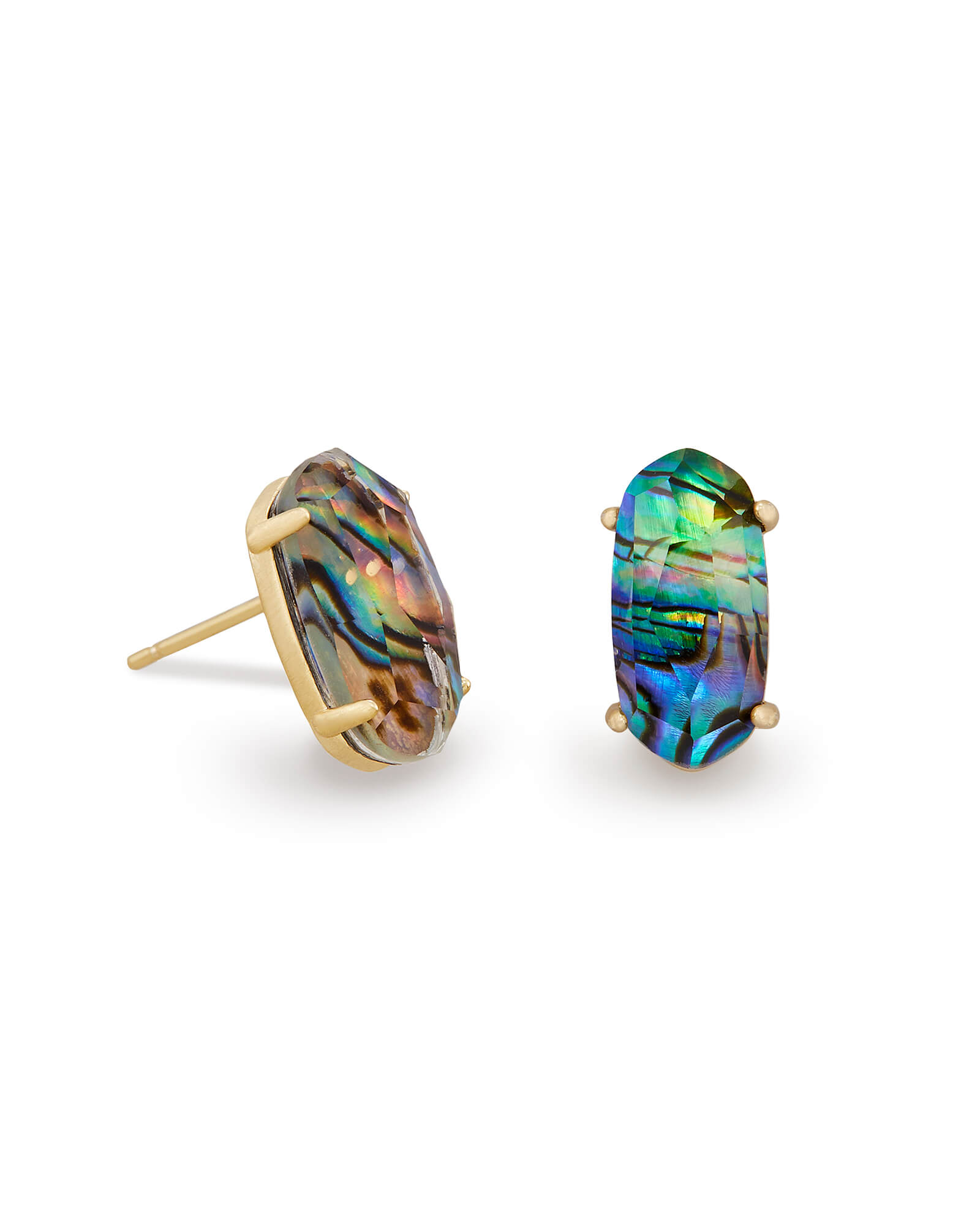 jewelry in abalone lyst gallery house of sunburst metallic stud earrings harlow