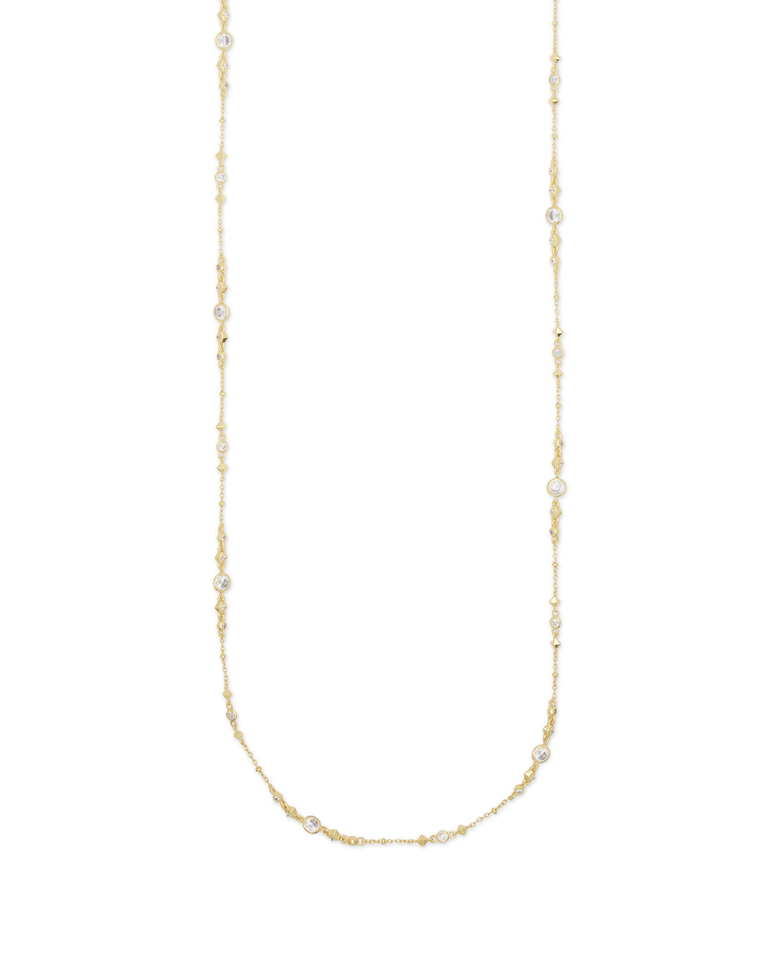 Wyndham Long Necklace in Gold