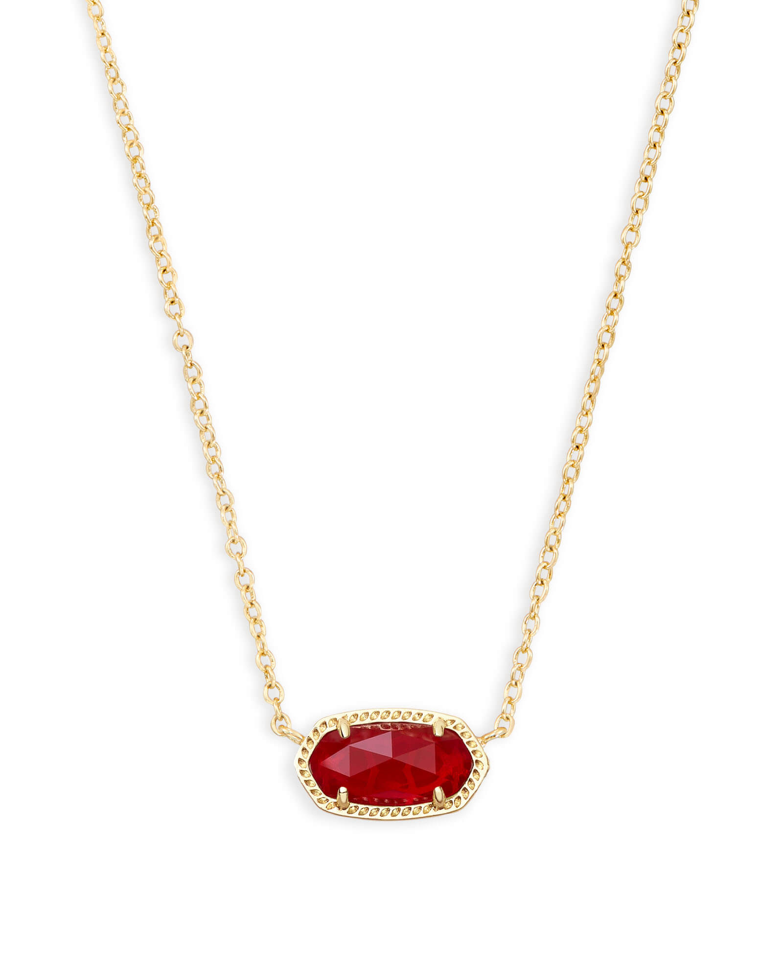 6af9c9d364fa0 Elisa Gold Pendant Necklace in Ruby Red | Kendra Scott
