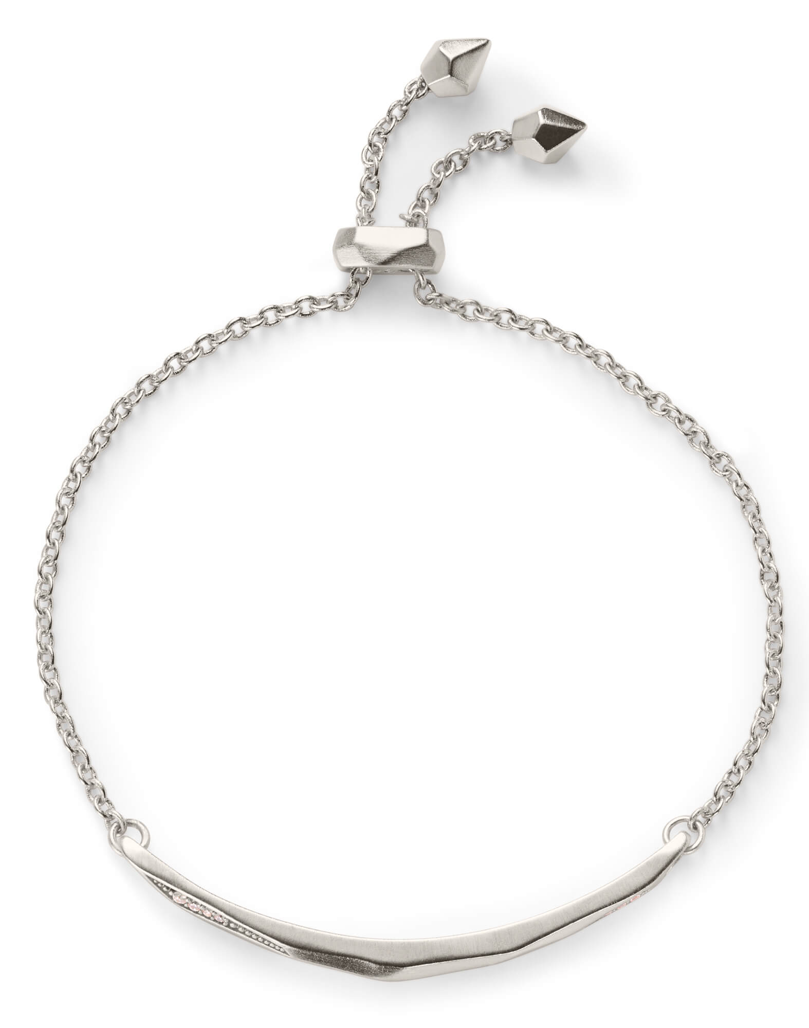 Angela Adjustable Chain Bracelet In Silver