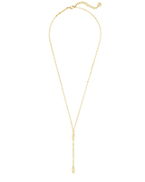 Fern Y Necklace in Gold