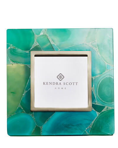 4x4 Photo Frame in Green Agate