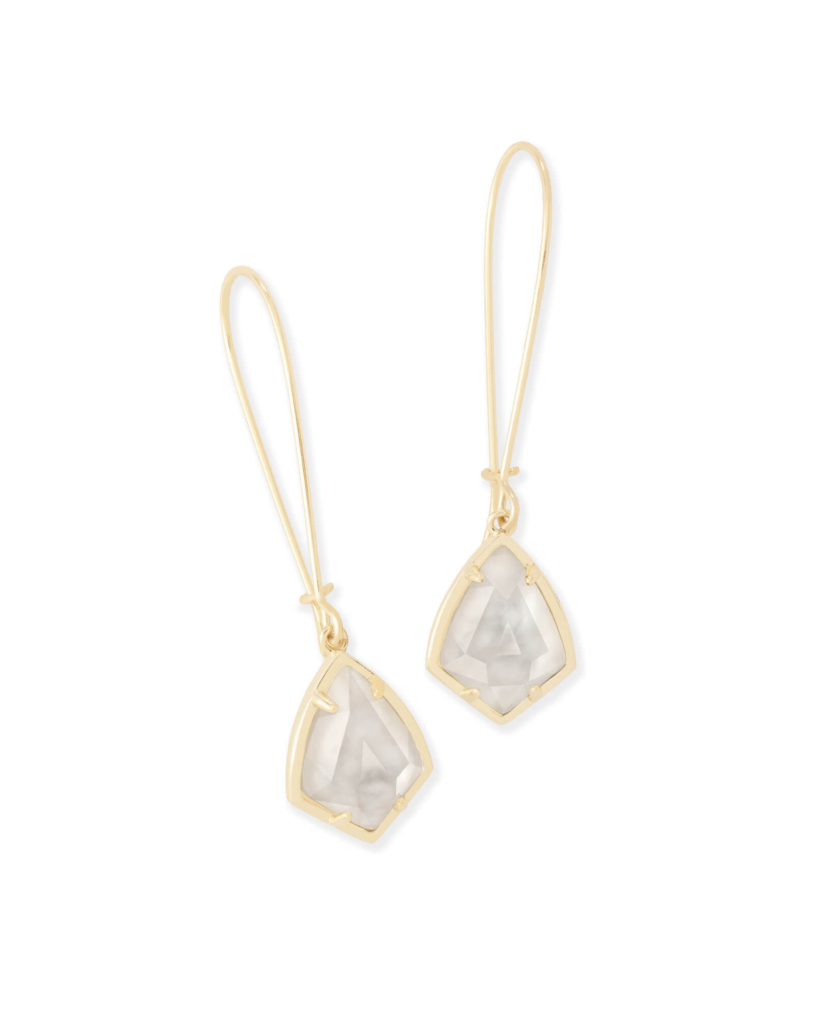 Carinne Drop Earrings In Ivory Pearl