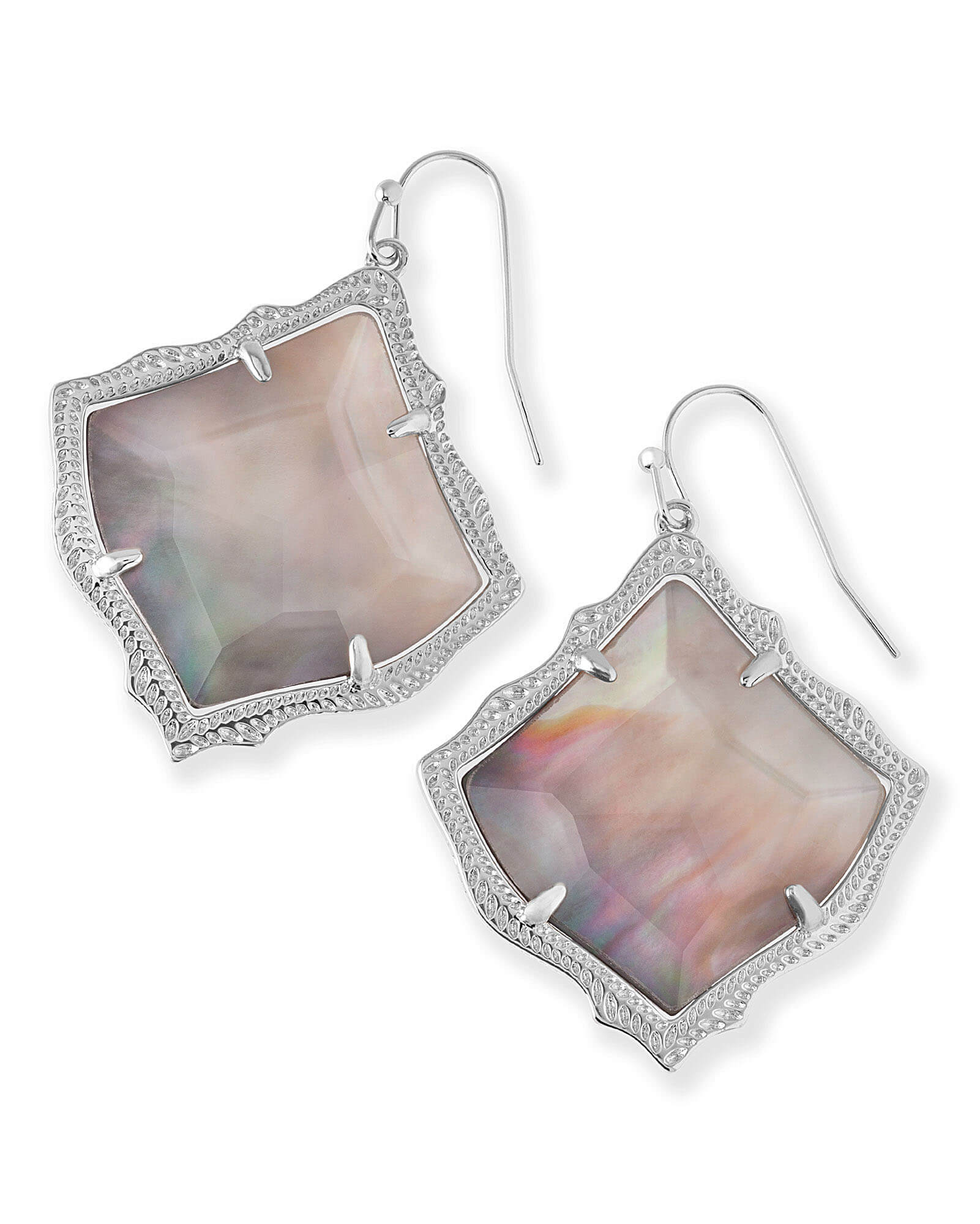 Kirsten Drop Earrings in Silver