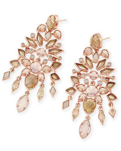 Aryssa Statement Earrings in Rose Zellige