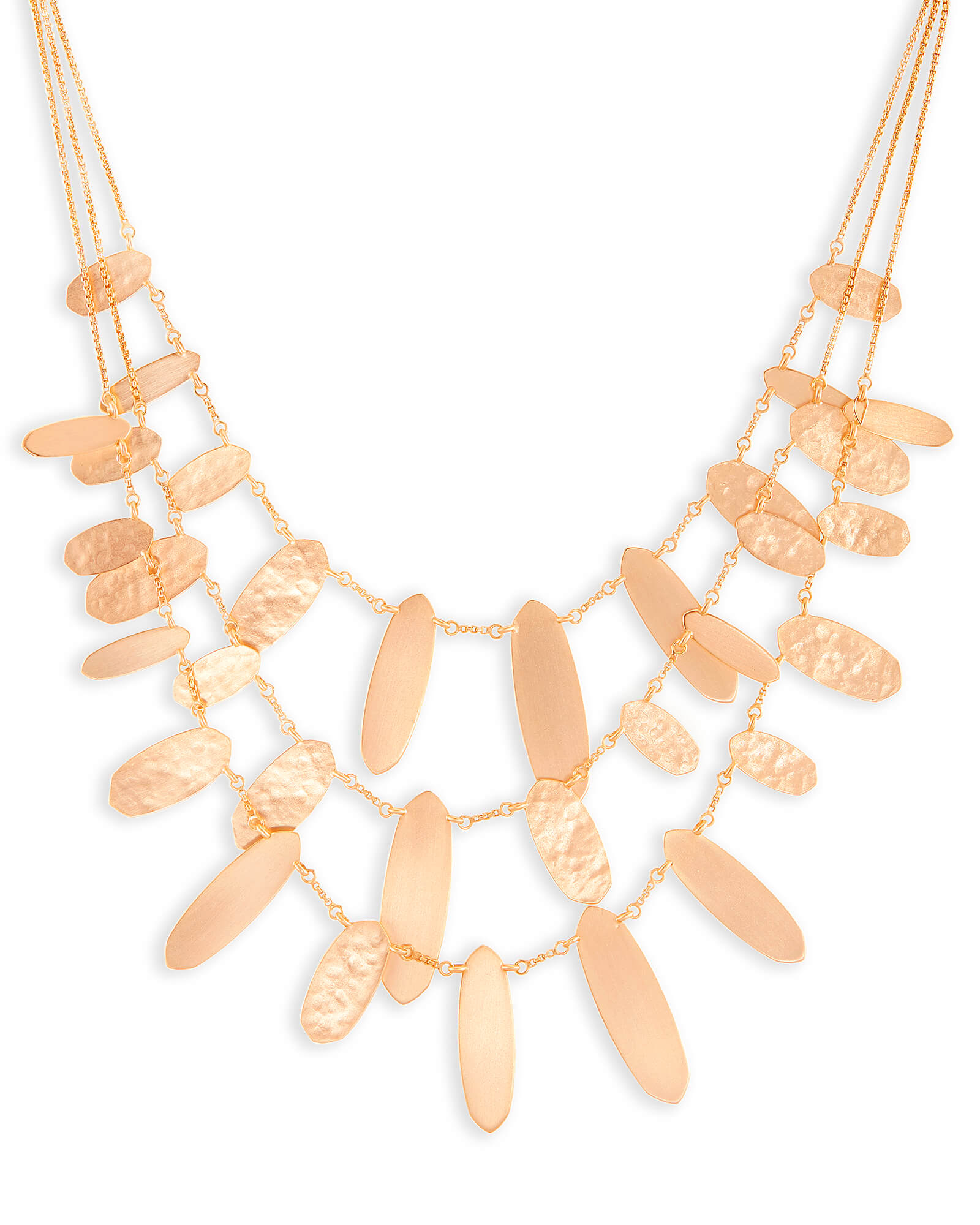 Nettie Statement Necklace in Rose Gold