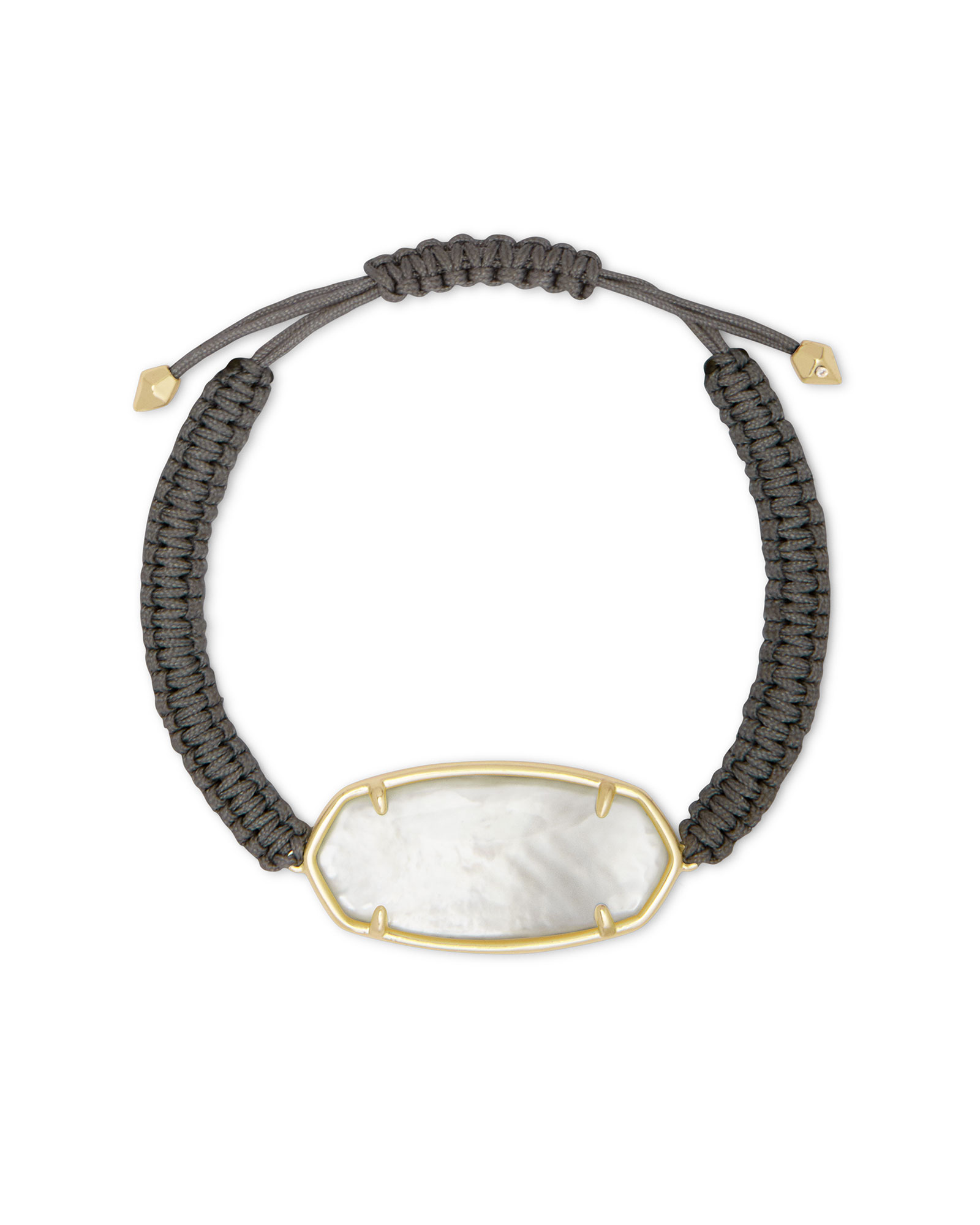 Elle Gold Friendship Bracelet in Ivory Mother-of-Pearl