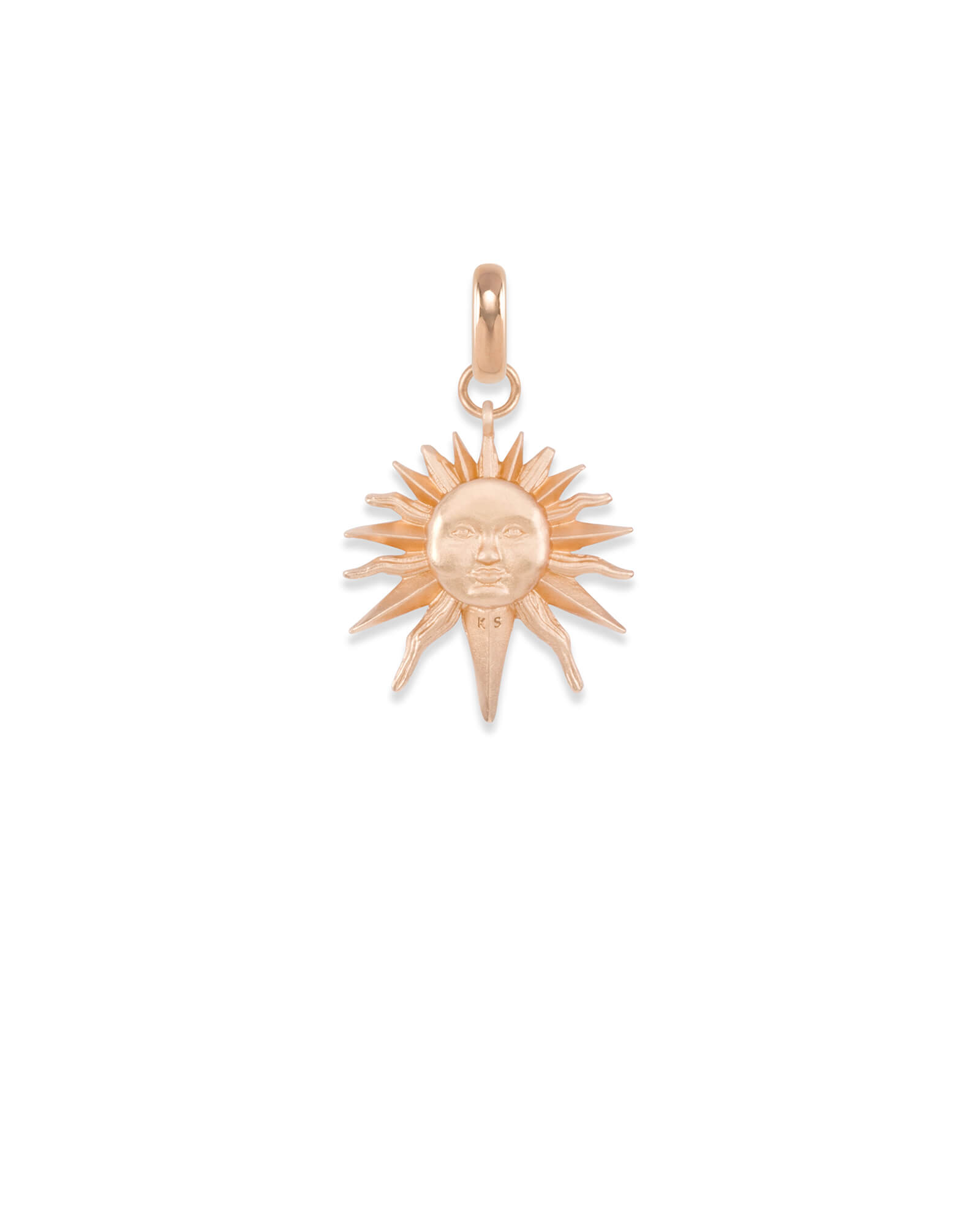 Sun Charm in Rose Gold