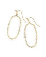Elle Open Frame Drop Earrings in Gold