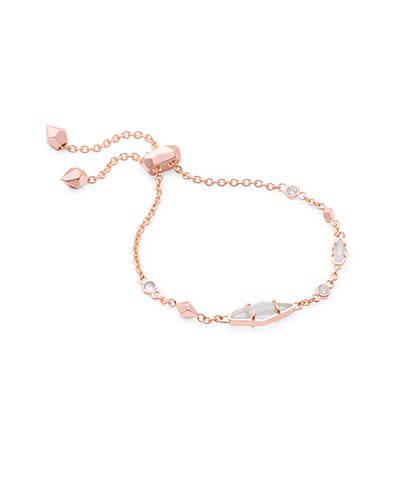 Deb Adjustable Chain Bracelet in Rose Gold