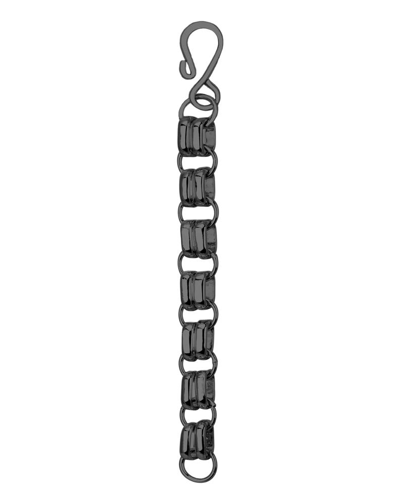 "4"" Gunmetal Hook Necklace Extender"