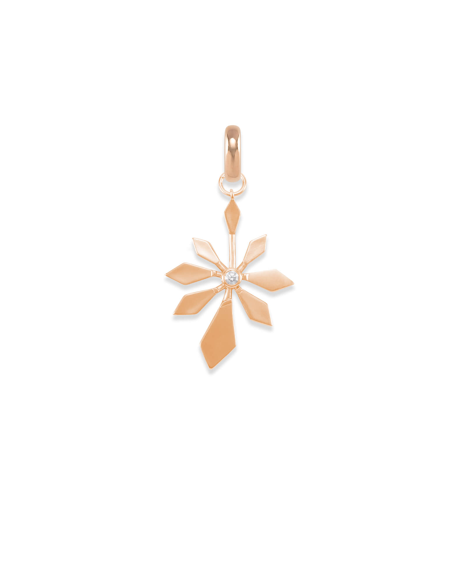 Geometric Flower Charm in Rose Gold