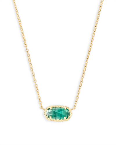 Elisa Pendant Necklace in Emerald Cat's Eye