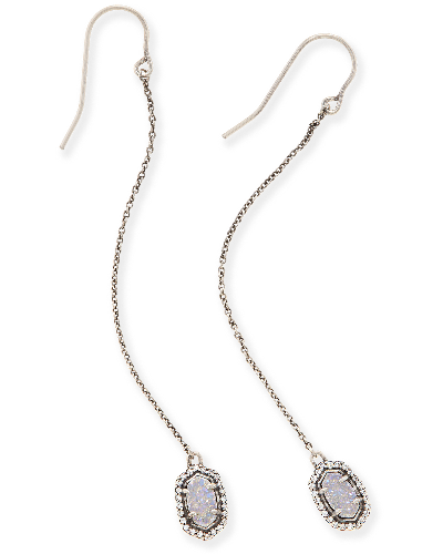 Caden Drop Earrings in Antique Silver