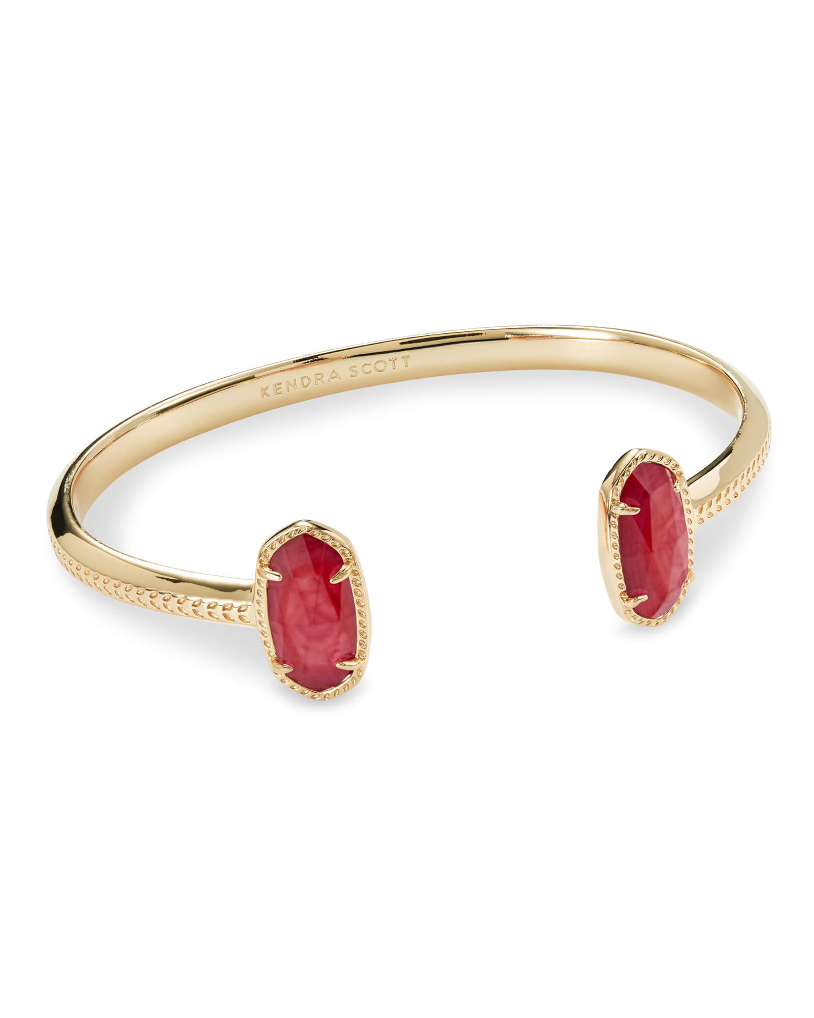 Elton Gold Cuff Bracelet in Red Mother of Pearl