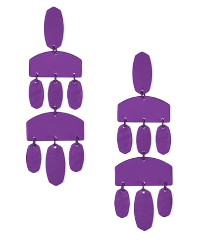 Emmet Matte Statement Earrings in Purple