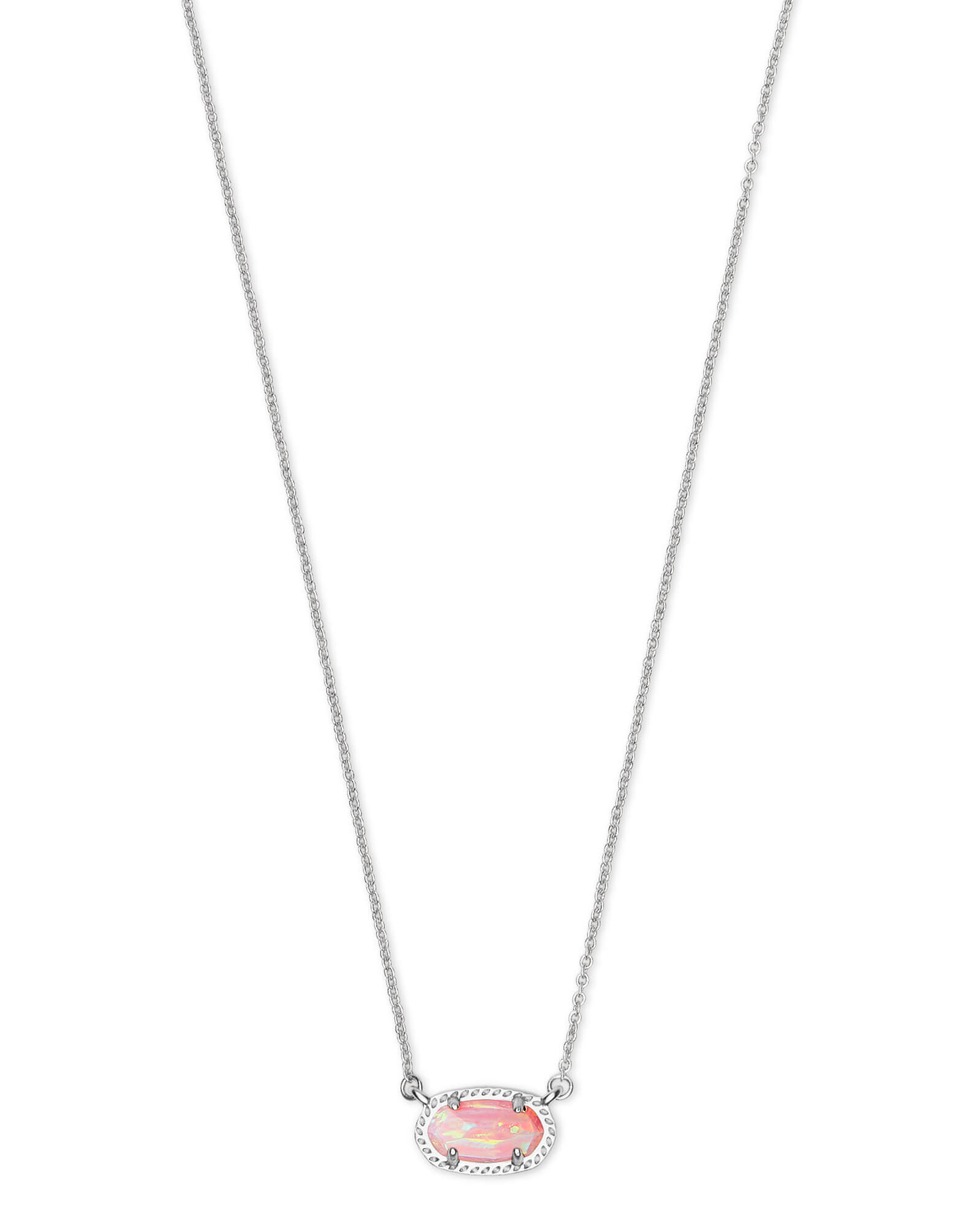 ce0d898ac56898 Ember Silver Pendant Necklace in Light Pink Opal | Kendra Scott
