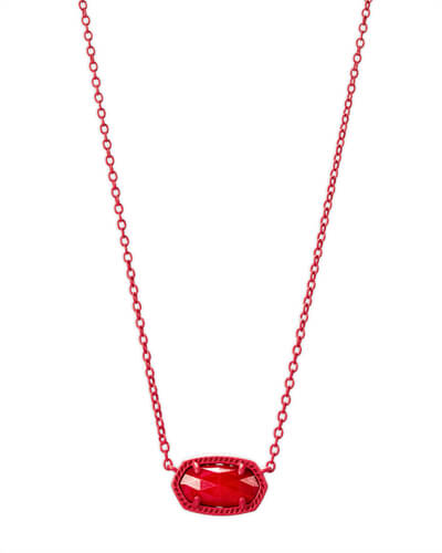Elisa Matte Necklace in Red Mother of Pearl