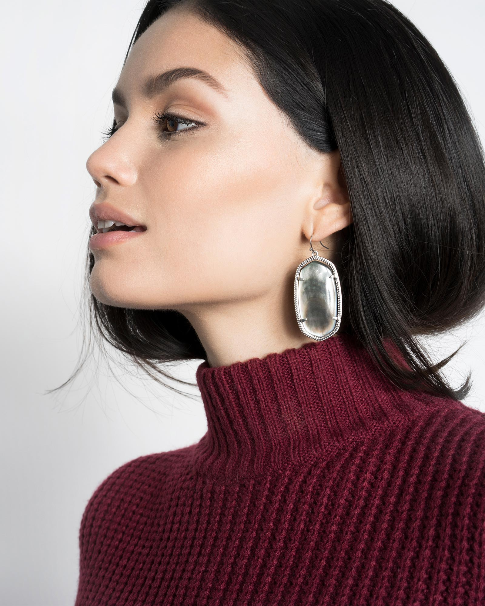 Danielle Earrings in Maroon Jade