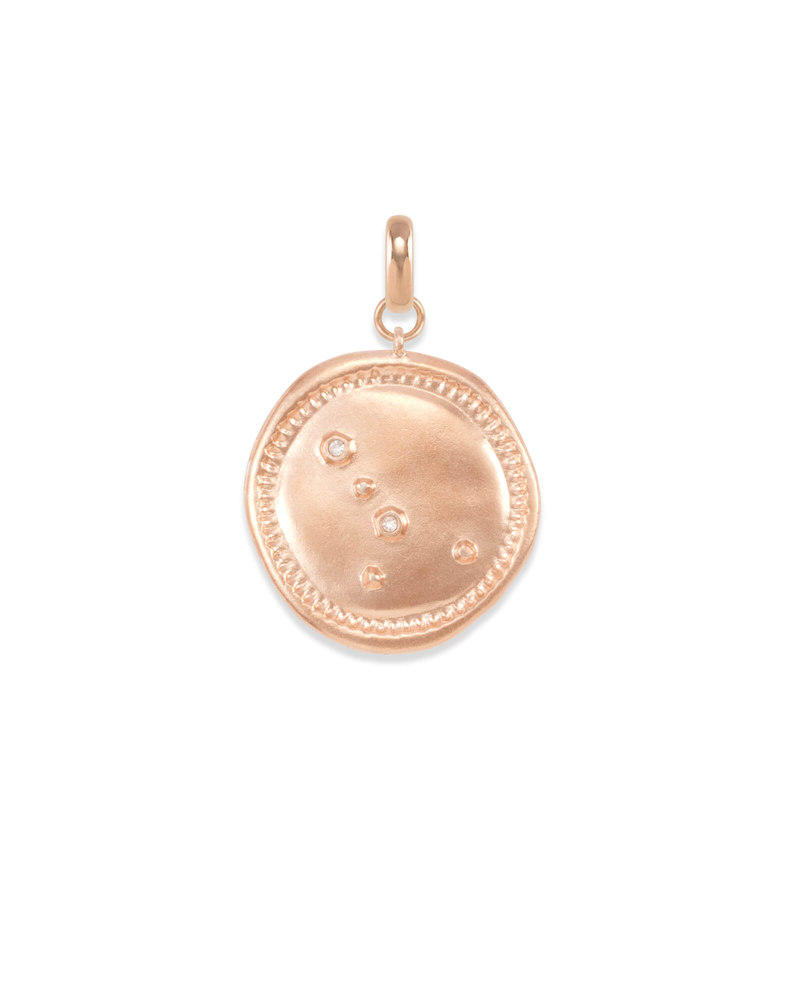 Cancer Coin Charm in Rose Gold