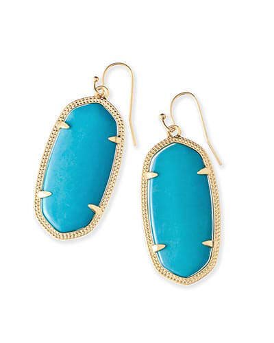 Elle Gold Earrings in Turquoise