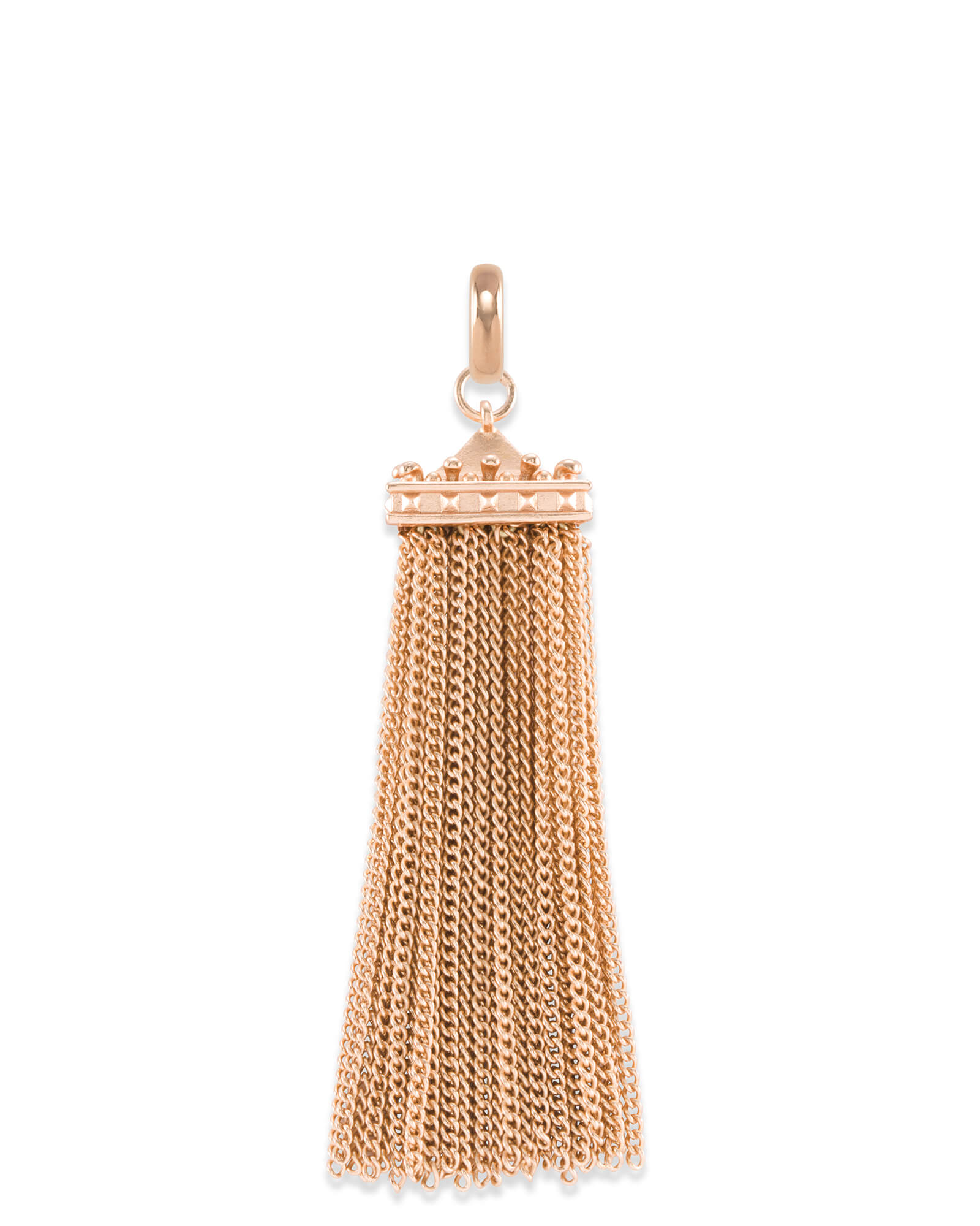 Square Tassel Charm in Rose Gold