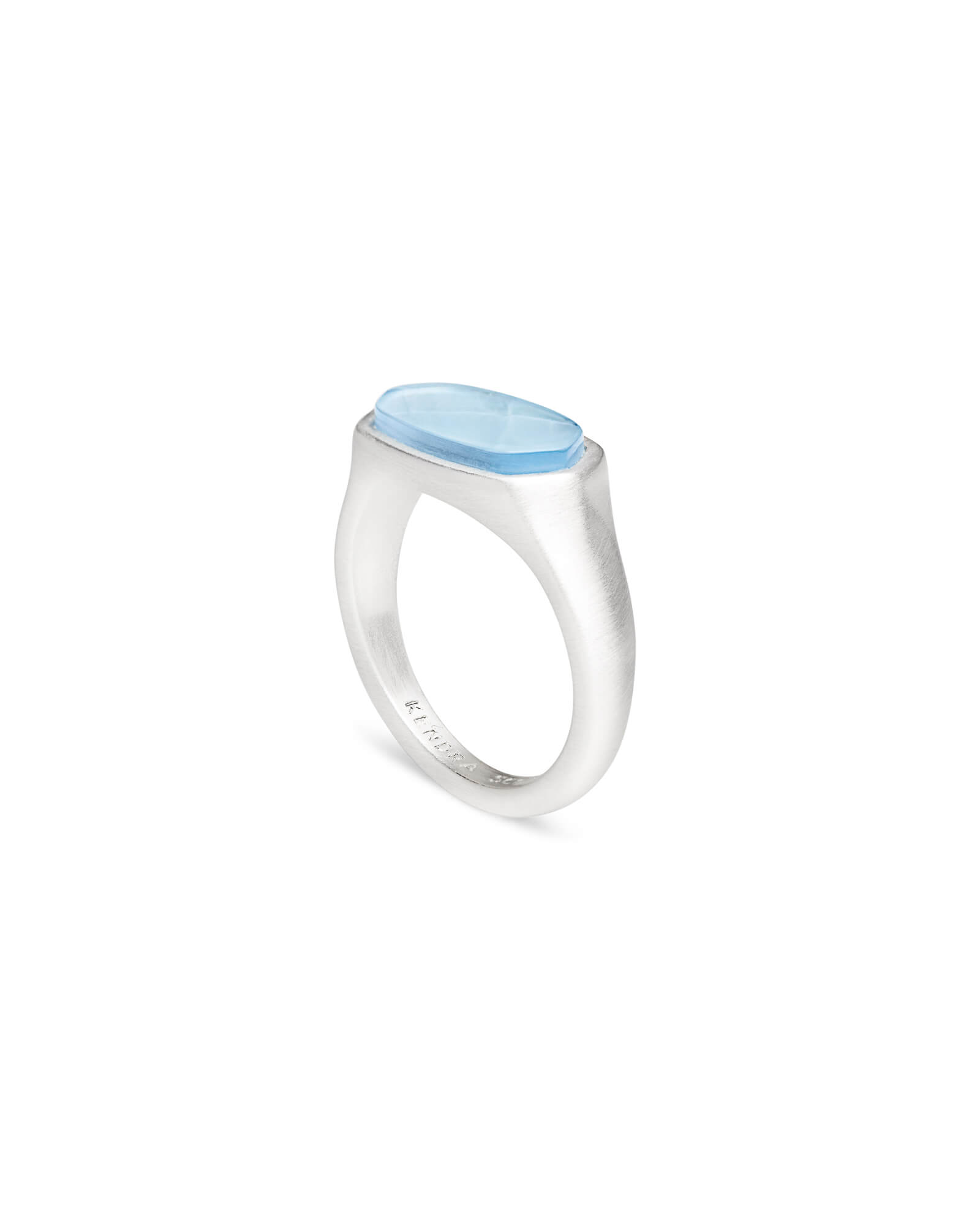Mel Cocktail Ring in Bright Silver