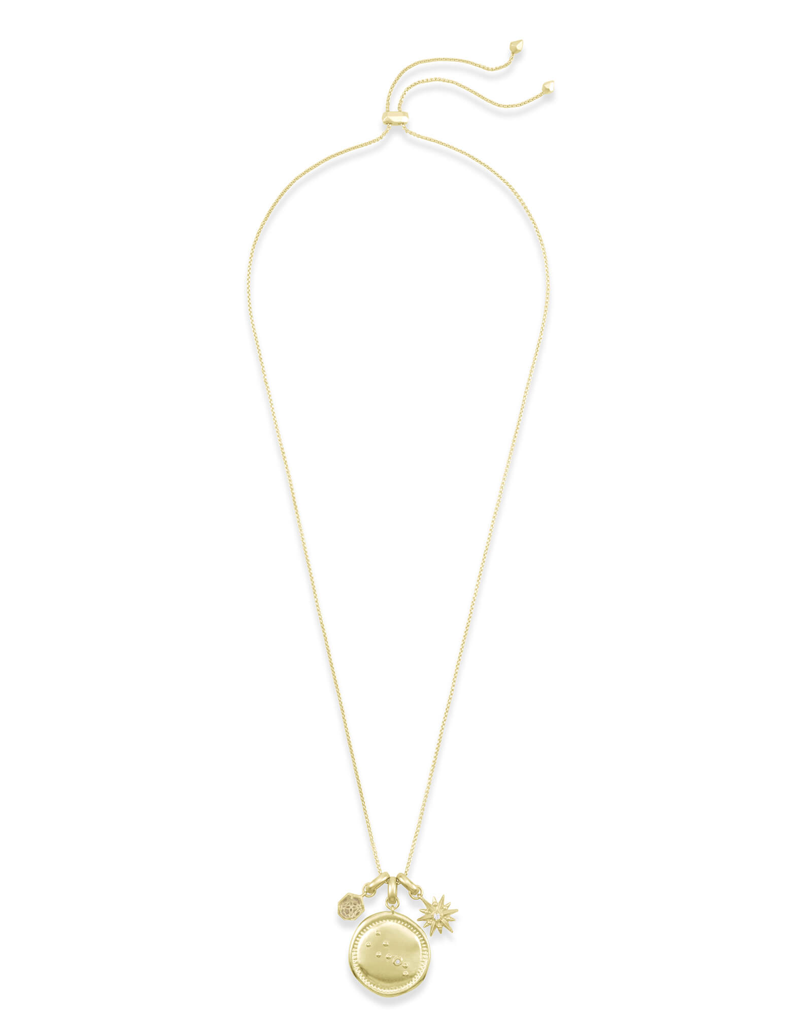 April Taurus Charm Necklace Set in Gold