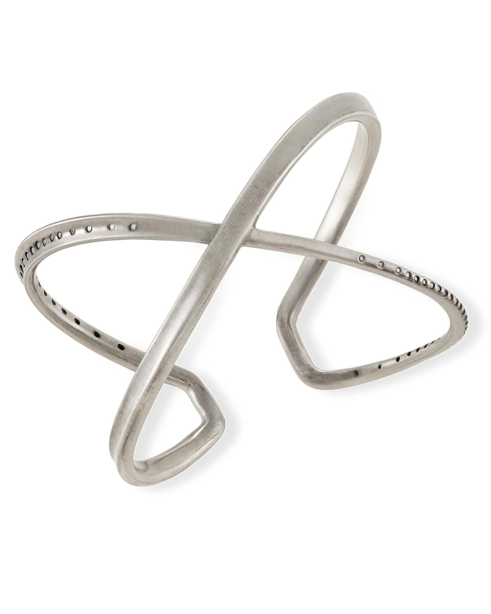 Stella Cuff Bracelet in Antique Silver