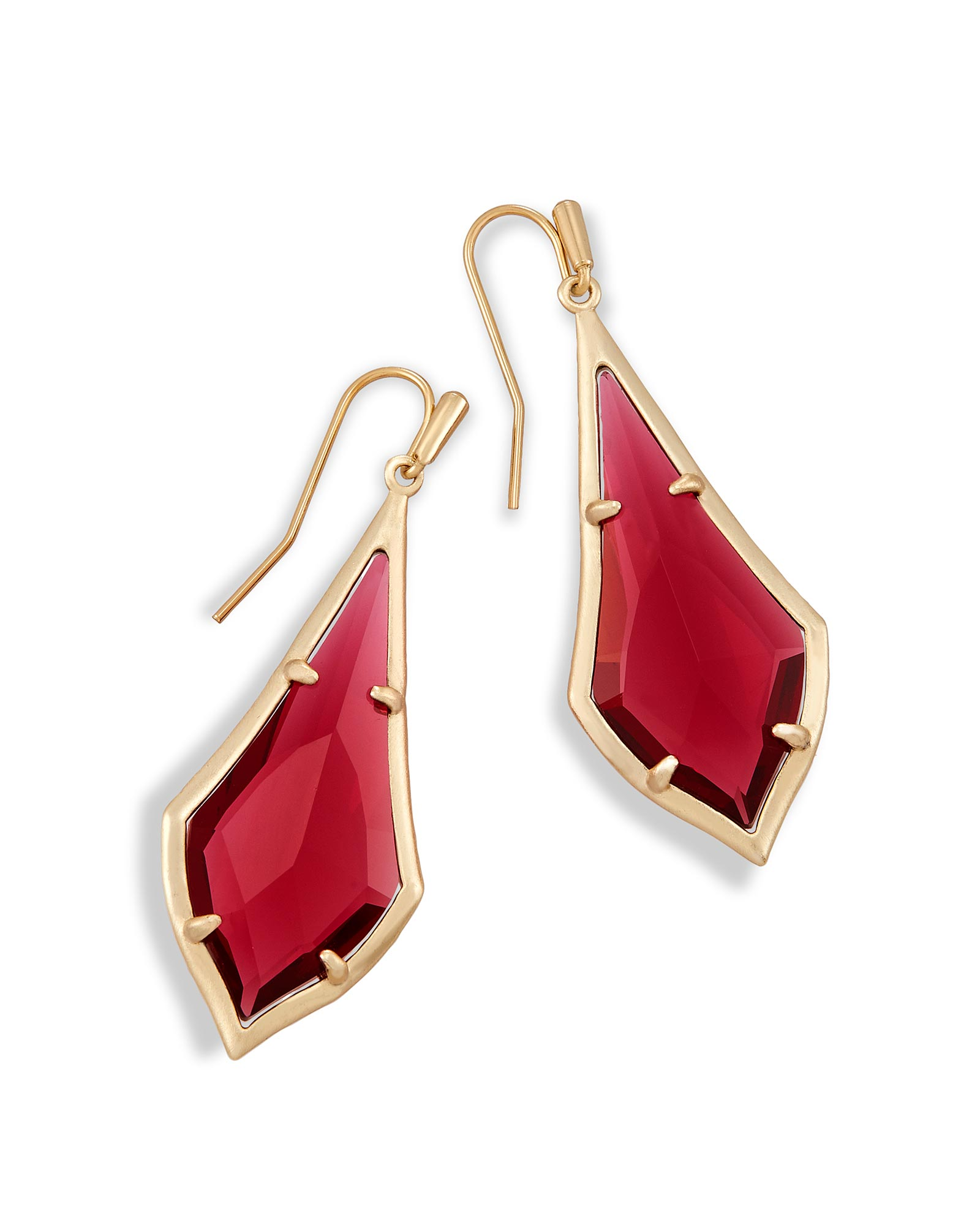 Olivia Drop Earrings in Berry Glass