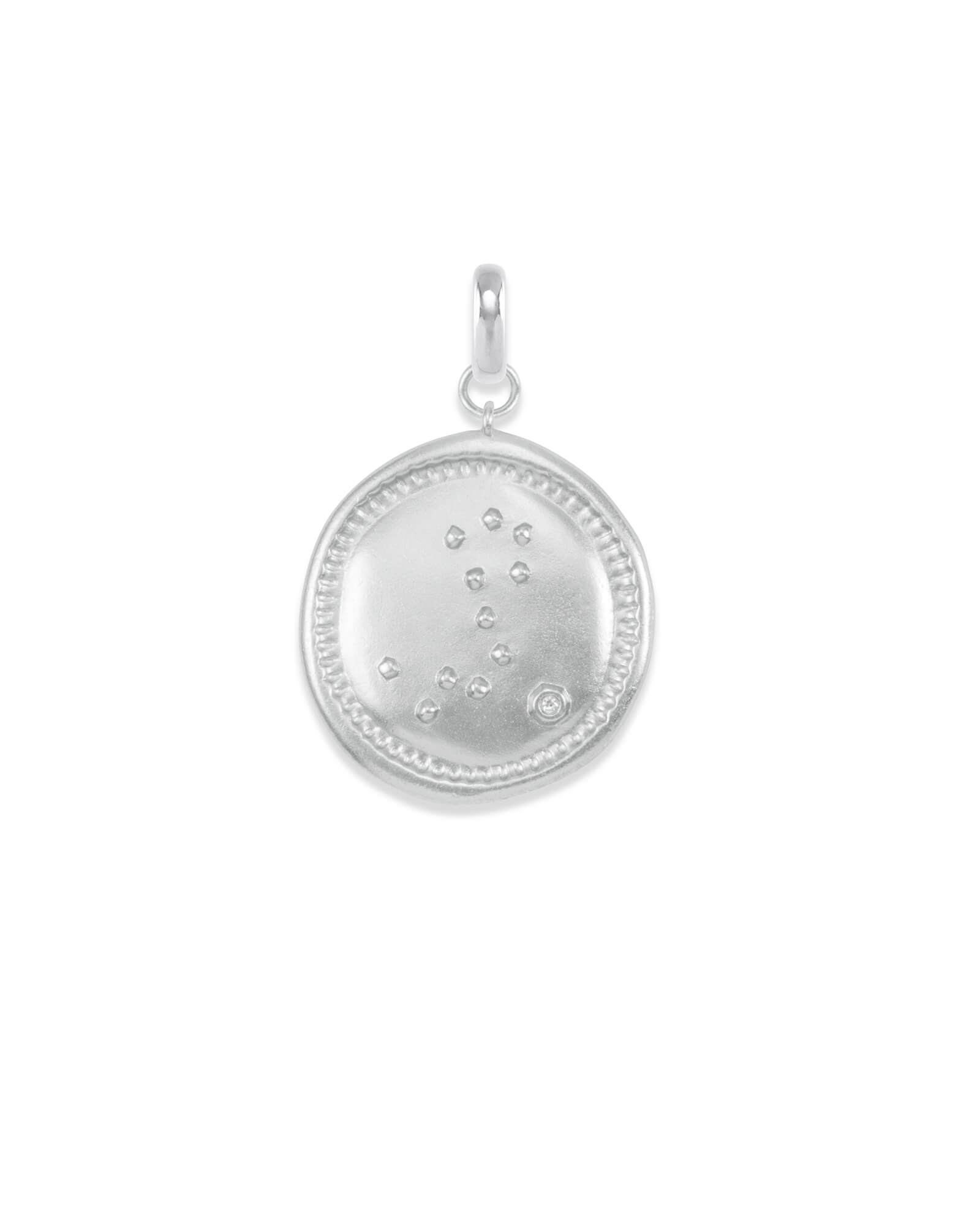 Pisces Coin Charm in Silver
