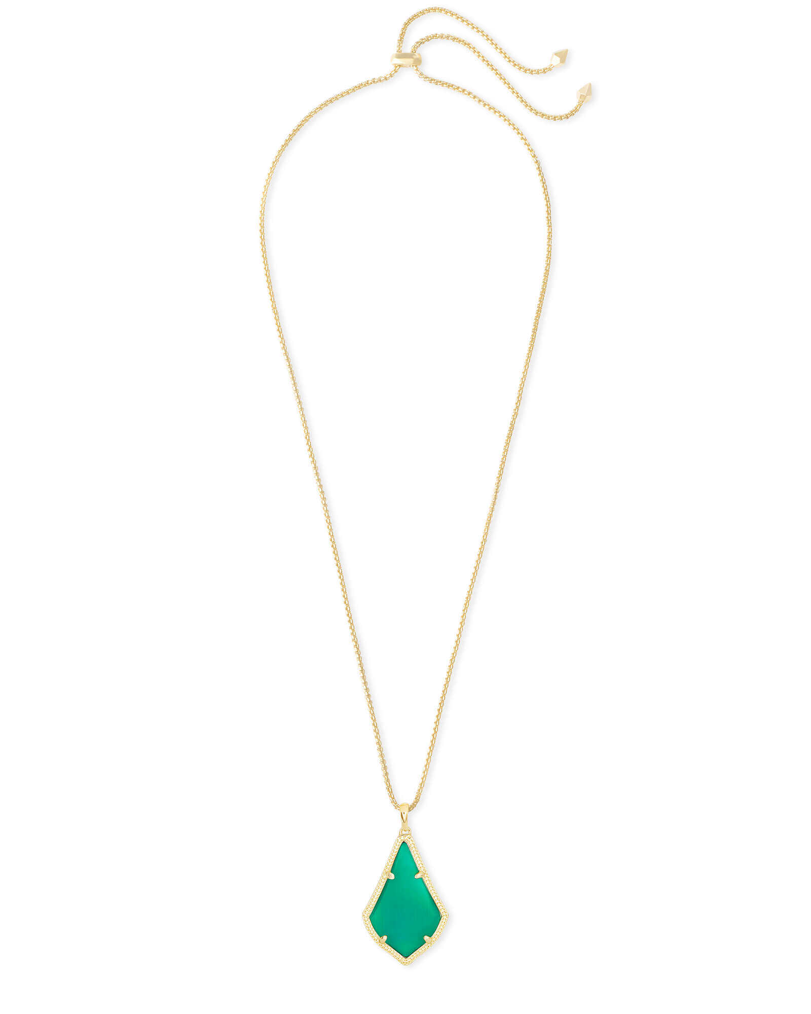 Alex Gold Pendant Necklace in Emerald Cat's Eye
