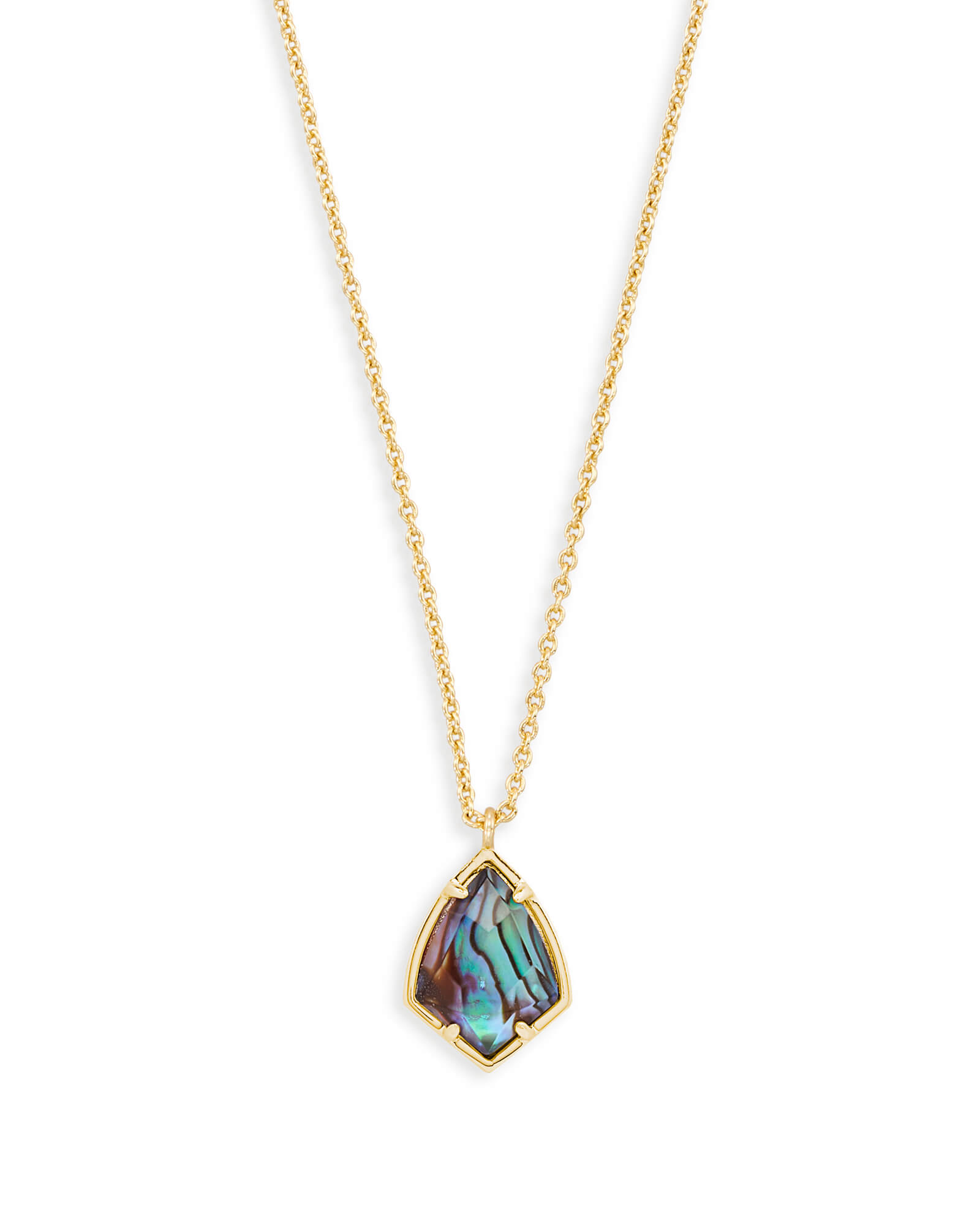 Cory Gold Pendant Necklace in Abalone Shell