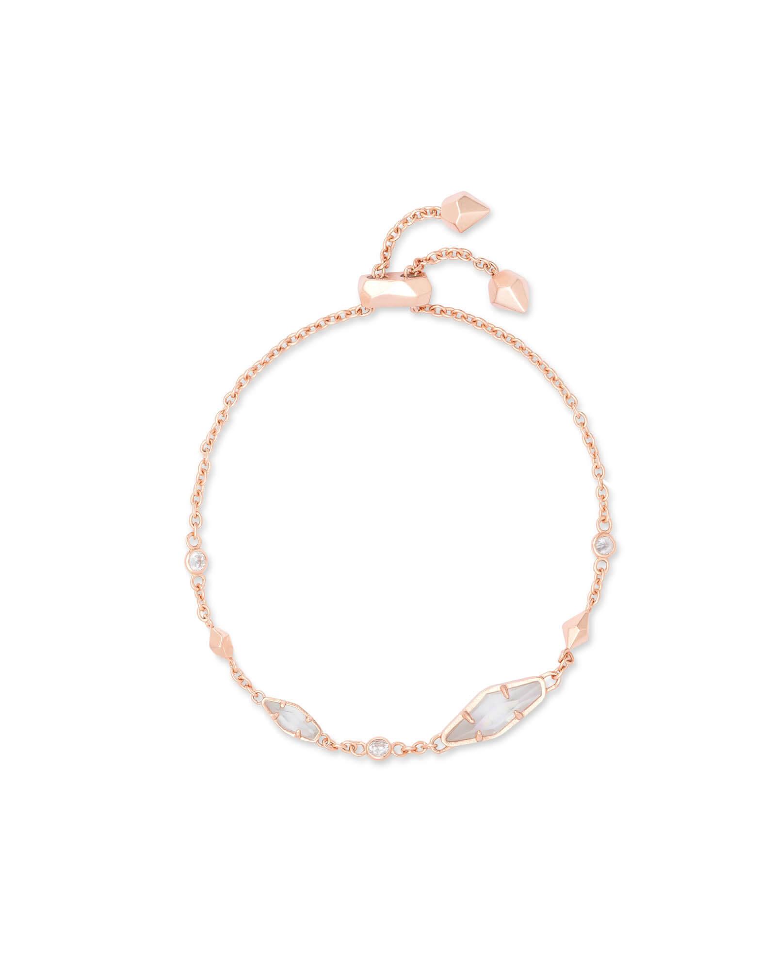 d27f56eb5e05cc Deb Adjustable Chain Bracelet In Rose Gold | Kendra Scott