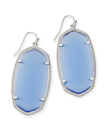 Danielle Silver Earrings in Periwinkle Cat's Eye
