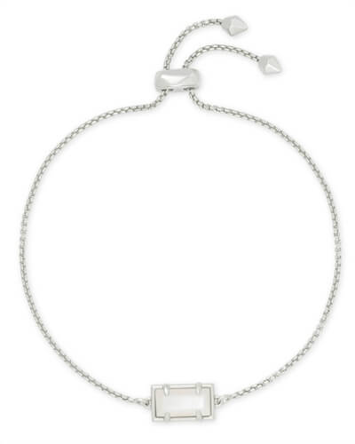 Phillipa Silver Chain Bracelet in Ivory Pearl