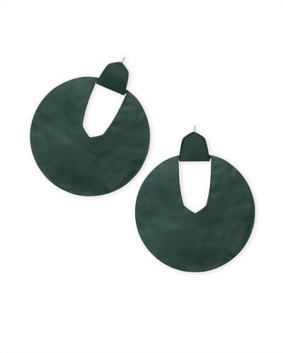 Diane Matte Statement Earrings in Emerald