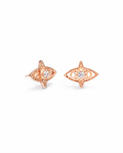 Crosby Stud Earrings in Rose Gold