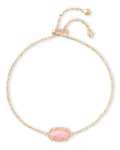 Esen Gold Bracelet in Light Pink Opal