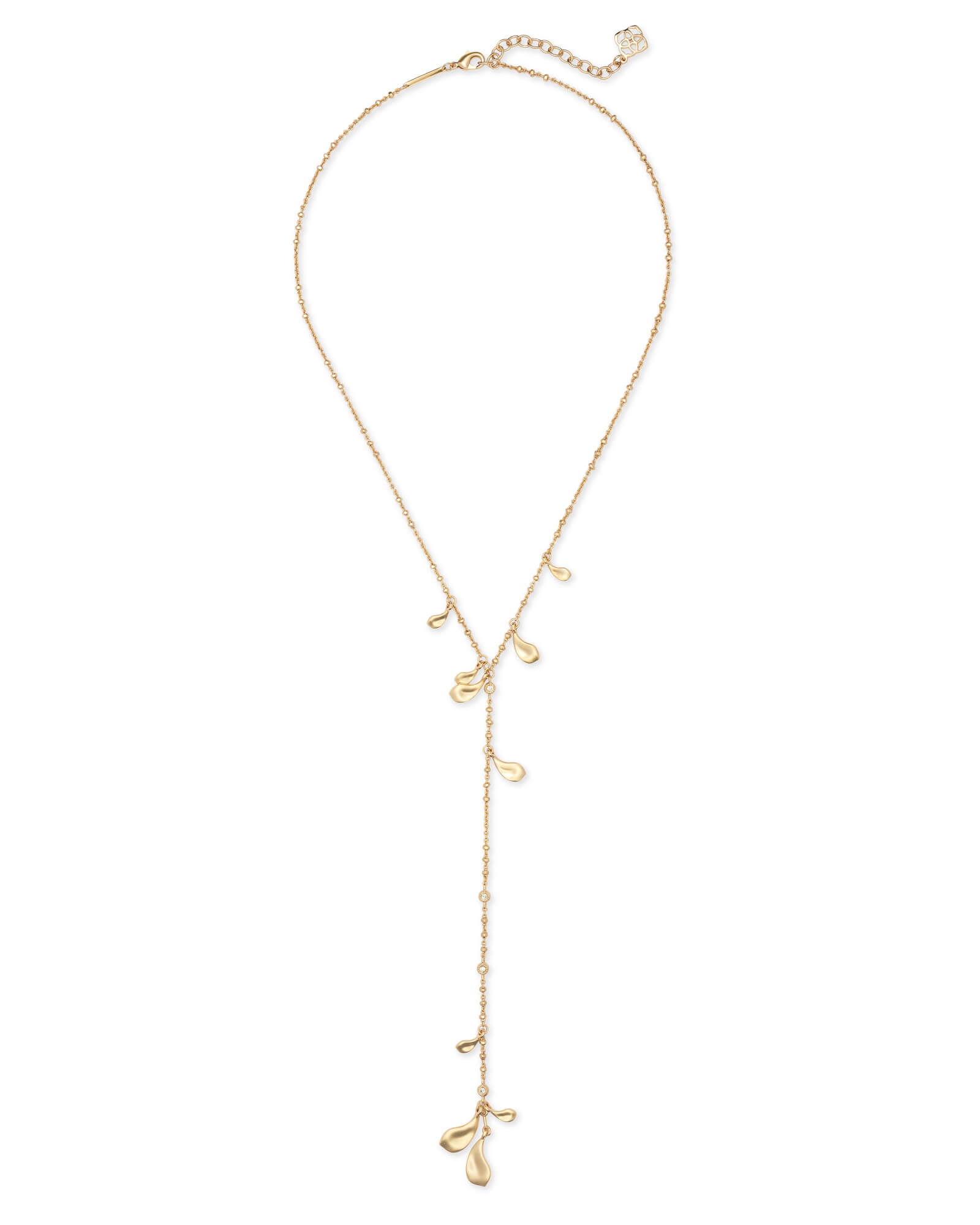Quincy Y Necklace in Gold