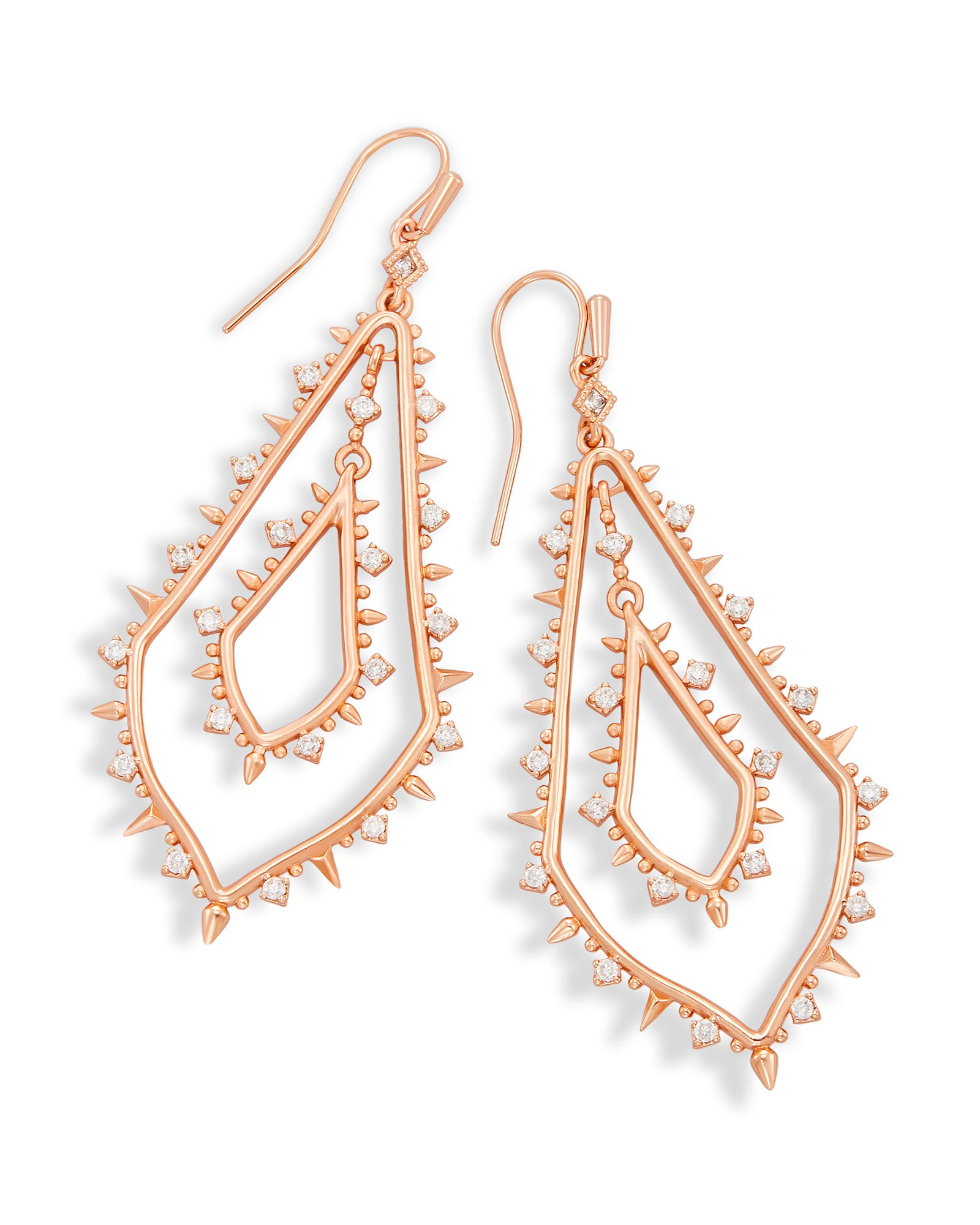 Alice Statement Earrings in Rose Gold