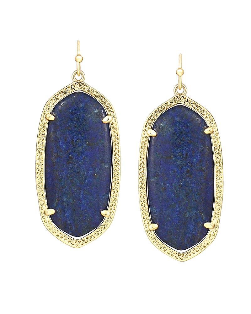 Elle Earrings in Lapis