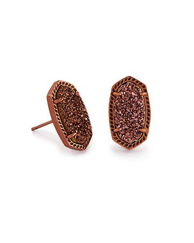 Ellie Stud Earrings in Chocolate Drusy