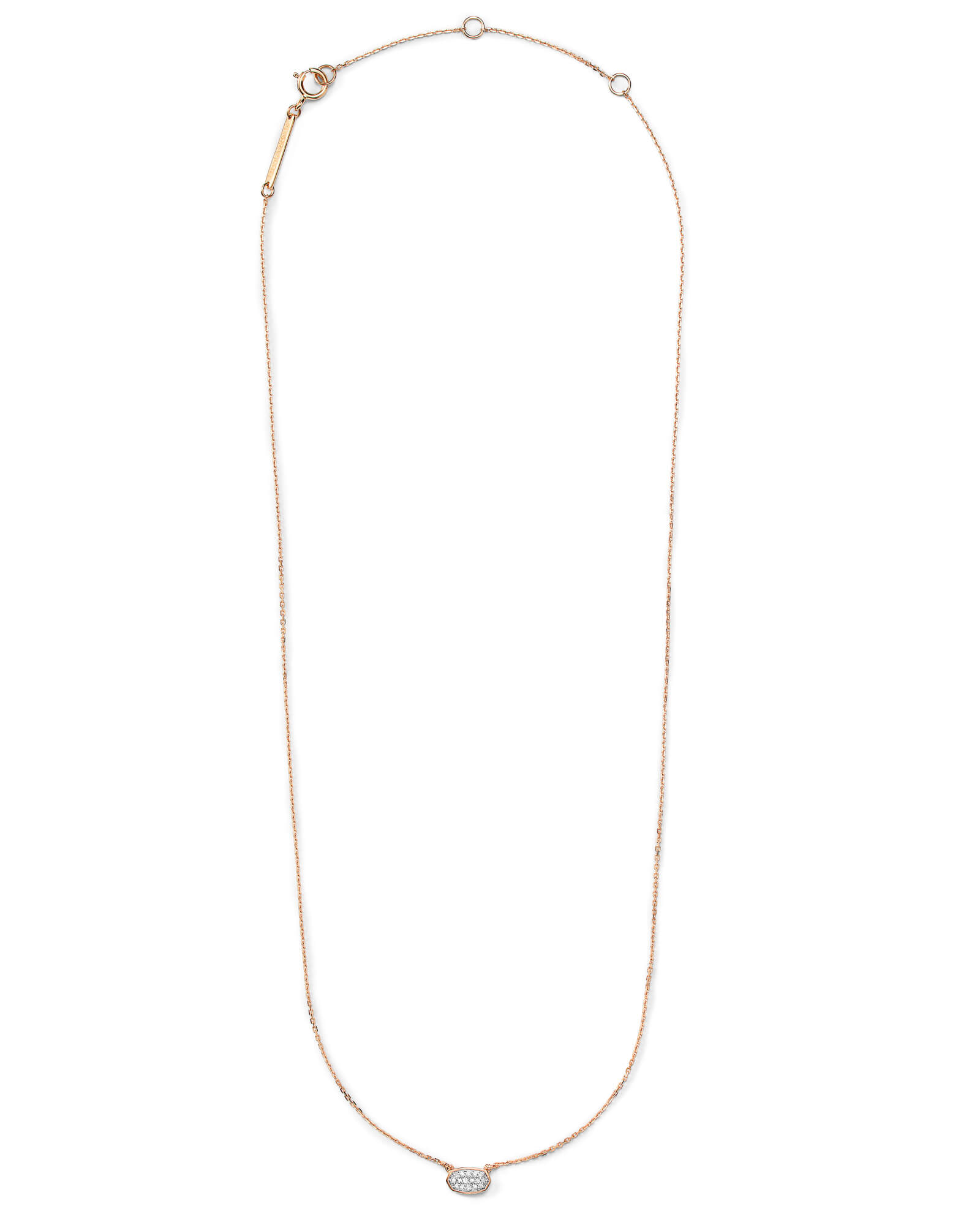 Marisa Pendant Necklace in White Diamond and 14k Rose Gold