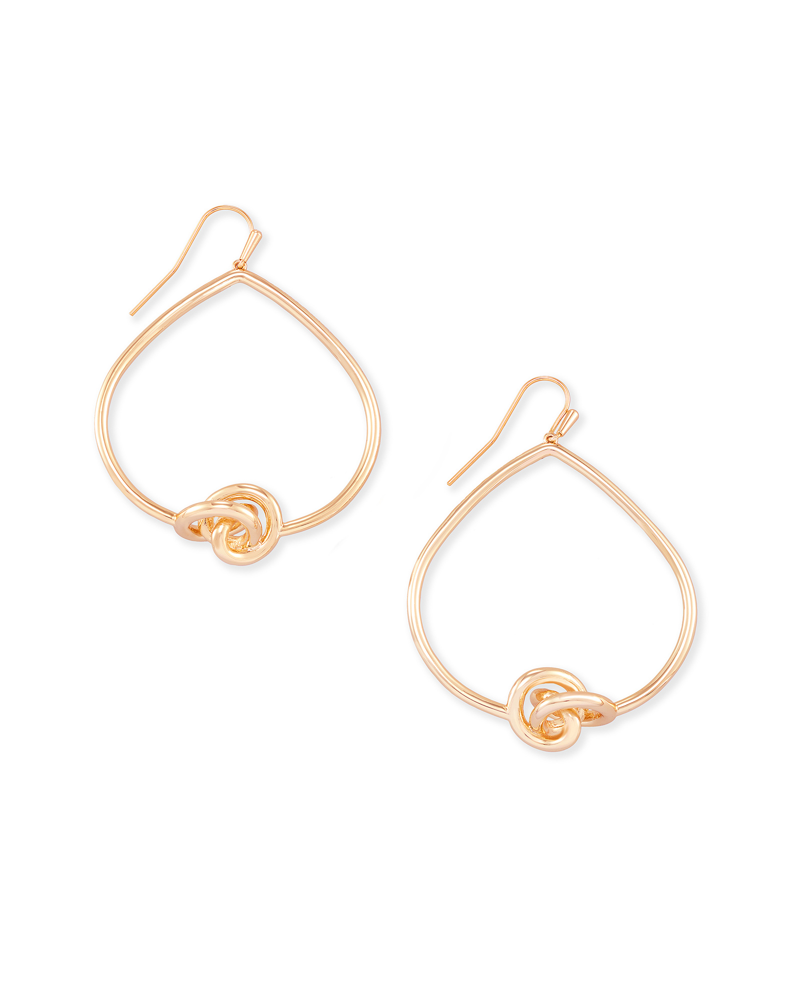Presleigh Open Frame Earrings in Rose Gold