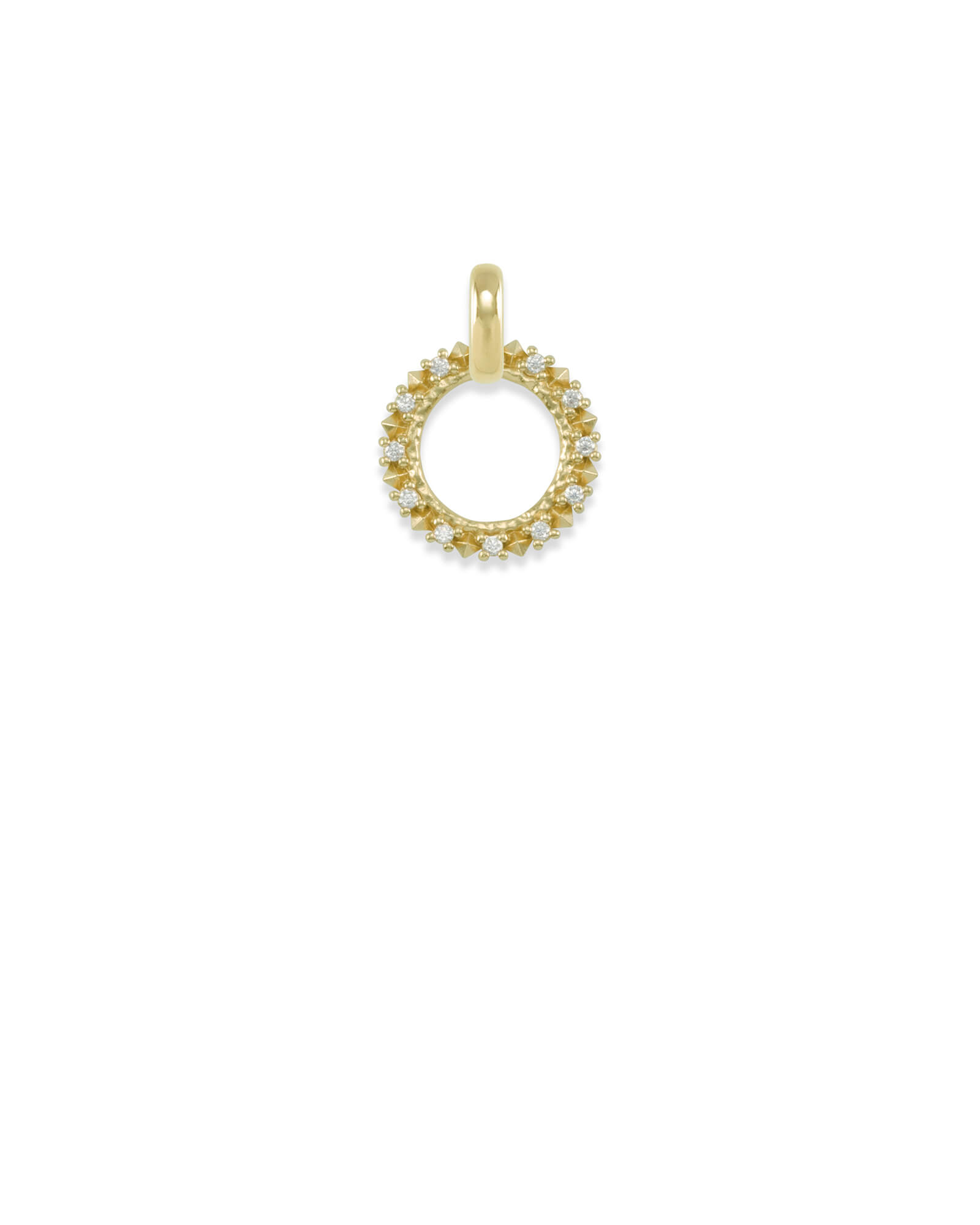 CZ Charm Pendant in Gold