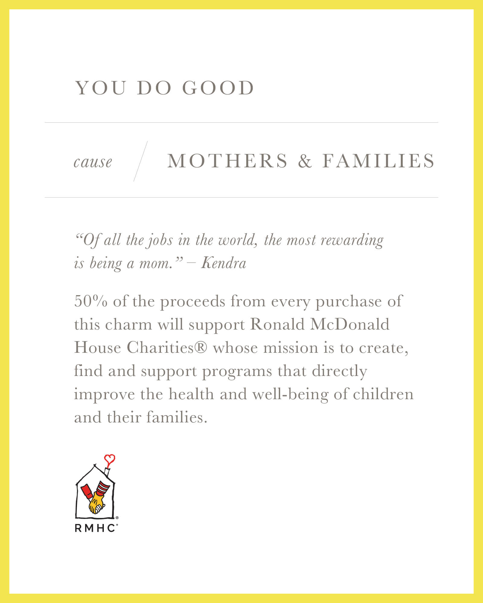 Mothers & Families Charm