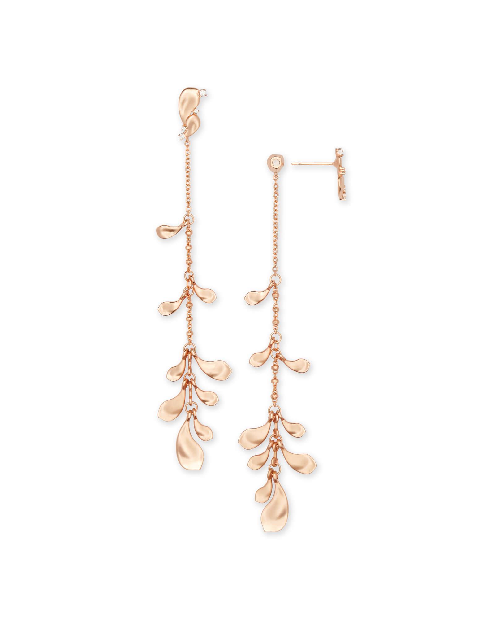 Pamela Statement Earrings In Rose Gold by Kendra Scott