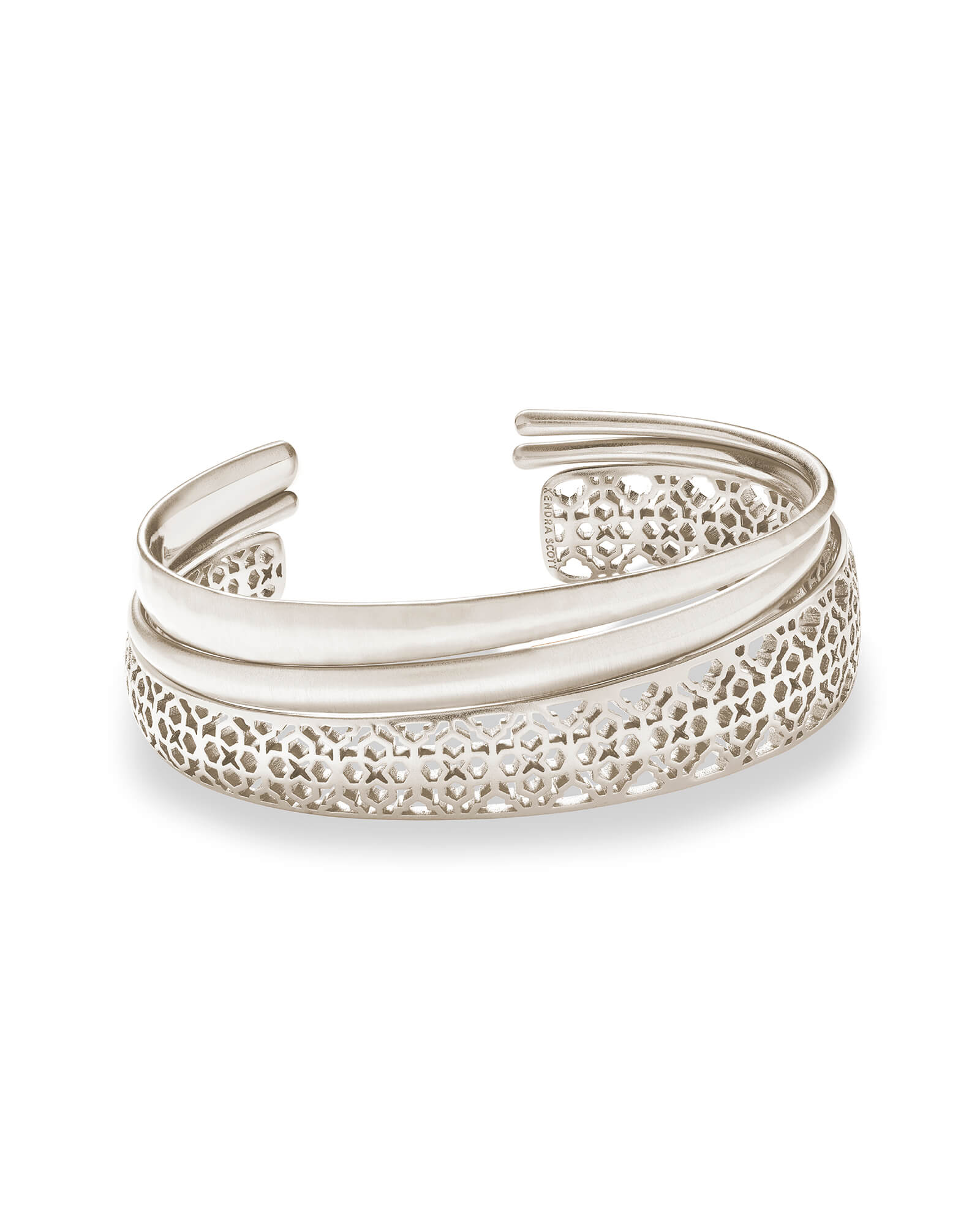 Tiana Silver Pinch Bracelet Set in Silver Filigree